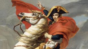 Конный портрет Наполеона Бонапарта. Картина Жака-Луи Давида
