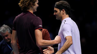 Roger Federer (right) beat Alex Zverev for the third time in their five meetings.