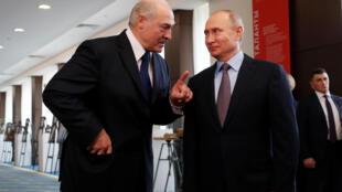Александр Лукашенко и Владимир Путин в Сочи, 15 февраля 2019