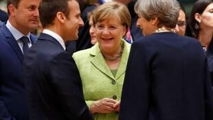 法國、德國、英國三國領導人資料圖片