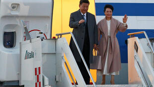 中国国家主席习近平携夫人2019年3月21日抵达意大利访问。