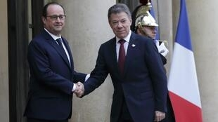 Shugaban Faransa, Francois Hollande da takwaransa na Colombia Juan Manuel Santos