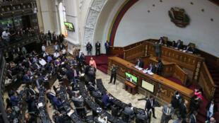 Ce mardi 24 septembre 2019, la séance de l'Assemblée nationale vénézuélienne à Caracas accueillait pour la première fois depuis 2016 les députés chavistes.