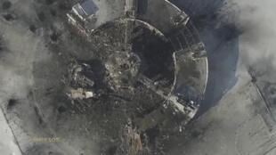 Терминал аэропорта Донецка в период боев 15/01/2015