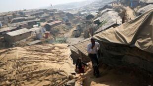 Trại tị nạn Kutupalong của người Rohingya ở Bangladesh, ngày 21/01/2018.