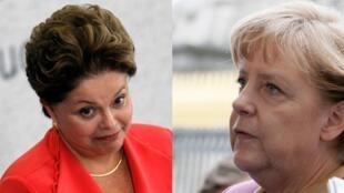 Dilma Rousseff e Ângela Merkel teriam sido vítimas de espionagem da parte dos Estados Unidos.