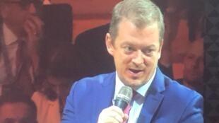 O presidente do Comitê Paralímpico Internacional, Andrew Parsons, durante evento em Paris. 06/02/2020