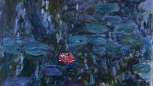 巴黎瑪蒙丹-莫內美術館Marmottan Monet展覽畫作:睡蓮垂柳倒影(1916-19)