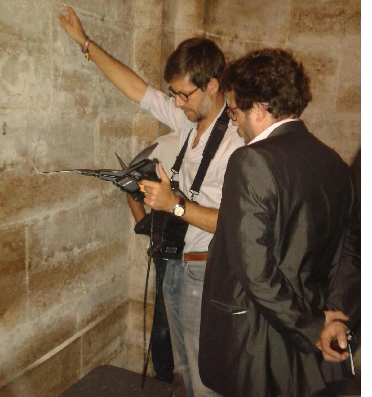 Philippe Charlier (left) discovered what are believed to be the bones of people guillotined during the Reign of Terror at the chapelle Expiatoire, built in memory of Louis XVI and Marie Antoinette.