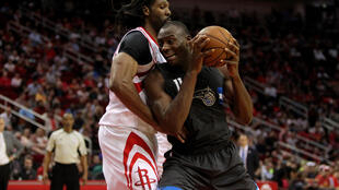 Le Congolais Bismack Biyombo (à droite), pivot du Orlando Magic, est l'un des joueurs majeurs de la NBA. Présent au NBA Africa Game 2015, il participait à la seconde édition en août 2017 à Johannesbourg.