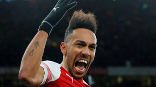 Dan wasan Arsenal Pierre-Emerick Aubameyang.