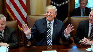 Tổng thống Mỹ Donald Trump trong một cuộc họp tại Nhà Trắng, ngày 09/05/2018.