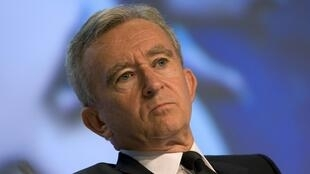 Bernard Arnault, chairman and CEO of LVMH, worth 29.6 billion euros, is fourth on Forbes' list of the world richest people