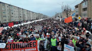 Митинг против строительства мусорного полигона в Шиесе. Котлас, 8 декабря 2019