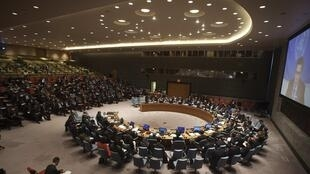 Conselho de Segurança da ONU durante reunião para discutir a situação na Líbia nesta quarta-feira, 18 de fevereiro de 2015.