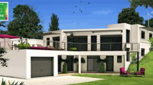 COMEPOS網站介紹的法國南部普羅旺斯地區的居民住宅。2018年12月。