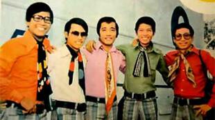 Nhóm nhạc Phượng Hoàng. Nhạc sĩ Lê Hựu Hà và nhạc sĩ Nguyễn Trung Cang là người đầu tiên và thứ tư, từ trái sang.