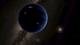 Visão de um artista daquilo que poderia ser o nono Palaneta do nosso sistema solar.