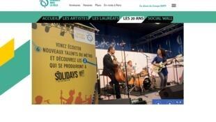 """Cuộc thi """"Nhạc sĩ Tầu điện ngầm"""" (Musiciens du Métro) do EMA của RATP tổ chức. Ảnh chụp từ màn hình RATP."""