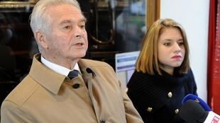 Jean-Pierre Verdon (L), the father of Philippe Verdon and Diane Lazarevic (R), the daughter of Serge Lazarevic