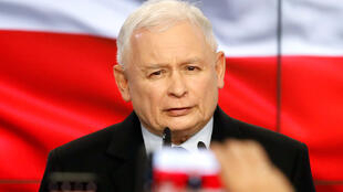 Le chef du PiS Jaroslaw Kaczynski, ici le 13 octobre 2019 à Varsovie.