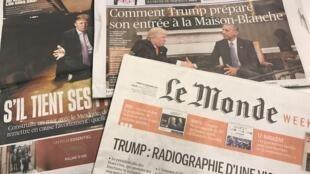 Primeiras páginas dos diários franceses 11/11/2016