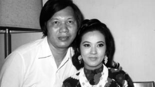 Hai vợ chồng nghệ sĩ Phạm Duy Lân - Thanh Nga