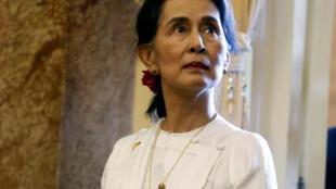 Ngoại trưởng Miến Điện, Aung San Suu Kyi dự Diễn Đàn Kinh Tế ASEAN tại Hà Nội. Ảnh ngày 13/09/2018.