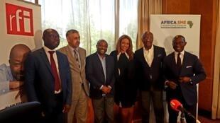 Studio éphémère du Débat africain à Johannesburg, à l'occasion de l'Africa SME champions forum.