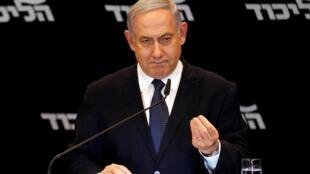 Benyamin Netanyahu face aux médias à Jérusalem, le 1er janvier 2020.
