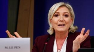 Marine Le Pen, dirigeante du Rassemblement national (ex-Front national), ici au Parlement européen à Bruxelles, le 13 juin 2019.