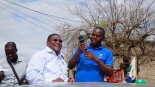 Ossufo Momade em campanha eleitoral