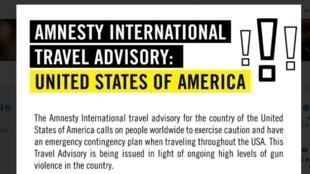 Anistia Internacional alerta viajantes sobre violência nos EUA