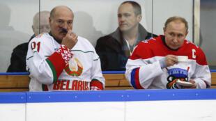 Александр Лукашенко и Владимир Путин в Сочи, 6 февраля 2020 г.