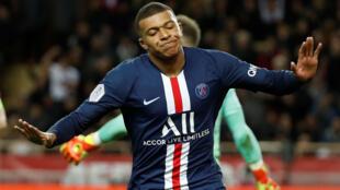 Kylian Mbappé, avançado francês do Paris Saint-Germain.