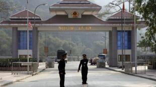Cửa khẩu Thanh Thủy giáp giới với tỉnh Vân Nam của Trung Quốc. Ảnh tư liệu chụp ngày 13/02/2009.