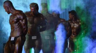 Compétition de bodybuilding à Kaboul, le 3 juin 2015.