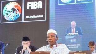 Le Malien Hamane Niang, nouveau président de la Fédération internationale de basket-ball (FIBA).