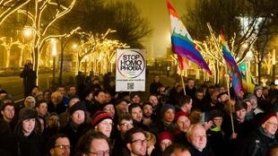 Protest in Berlin ahead of the Sochi 2014 Olympics
