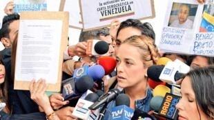 Lilian Tintori, esposa del preso político venezolano Leopoldo López.