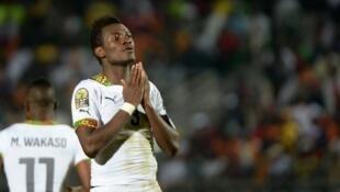 L'attaquant du Ghana, Asamoah Gyan, n'a pu sauver son équipe du match nul.