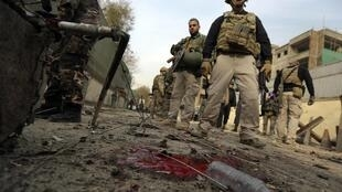 The scene of a suicide attack in Kabul last month