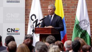 Tân tổng thống Colombia, ông Ivan Duque, tại Bogota. Ảnh chụp ngày 16/07/2018.