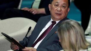 Ảnh tư liệu: Ngoại trưởng Bắc Triều Tiên Ri Yong Ho tại Diễn đàn an ninh khu vực ASEAN -Singapore 04/08/2018