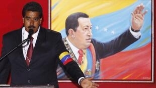 Presidential candidate Nicolas Maduro at the 4F military fort in Caracas, 13 April, 2013.
