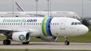 Un Airbus A320 de Transavia, a filial low cost da Air France, pivô da greve de pilotos.