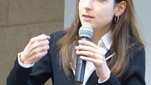 A economista Julia Cagé, em janeiro de 2017.