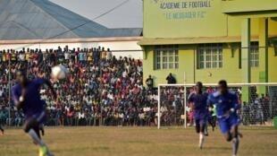Lors d'un match de football au Burundi, en 2015.