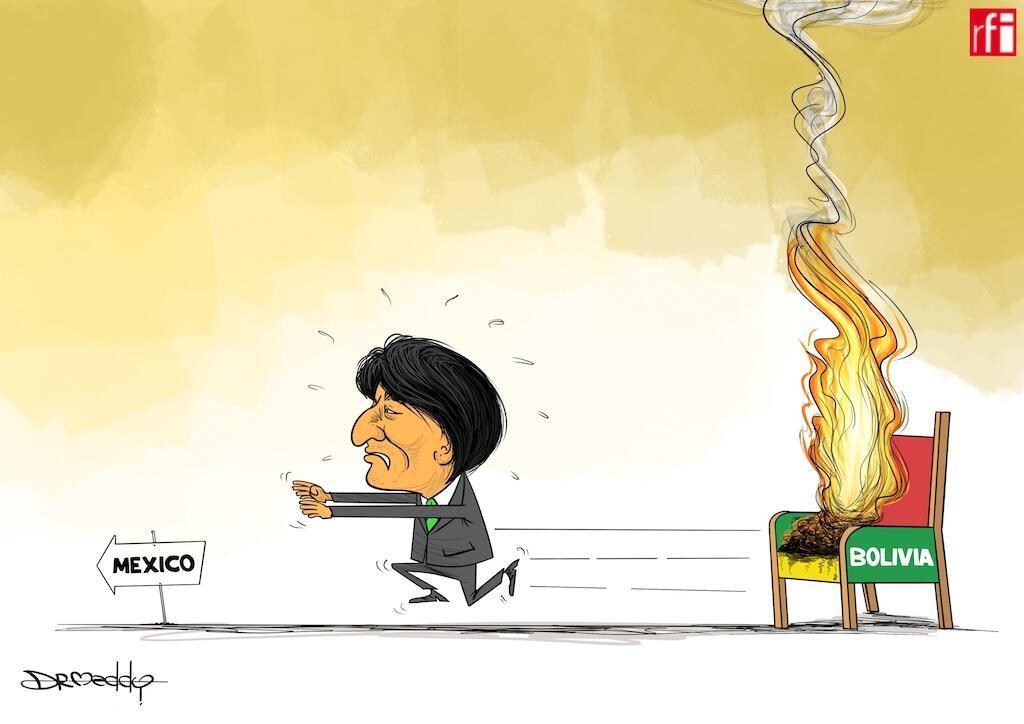 Baada kupoteza imani ya jeshi kufuatia kuzuka kwa maandamano makubwa dhidi ya kuchaguliwa kwake tena kwa muhula wanne, Evo Morales  ameamua kujiuzulu Jumapili usiku Novemba 11,2019..