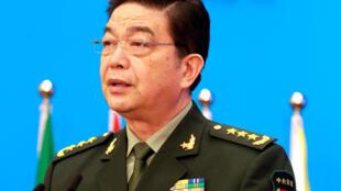 Bộ trưởng Quốc Phòng Trung Quốc, Thường Vạn Toàn, phát biểu tại Diễn đàn Quốc Phòng Hương Sơn, ngày 11/10/2016.